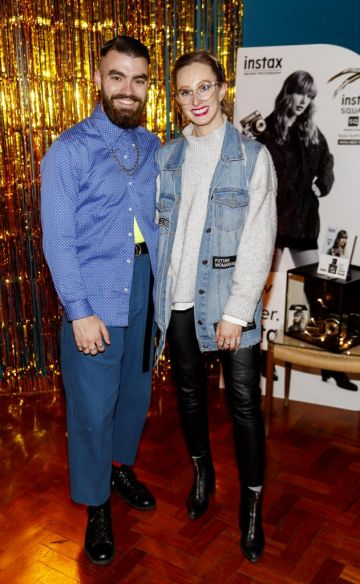 Jake McCabe and Niamh O'Donoghue pictured at the instax Christmas party that showcased the perfect selection of must-have gifts. Picture Andres Poveda