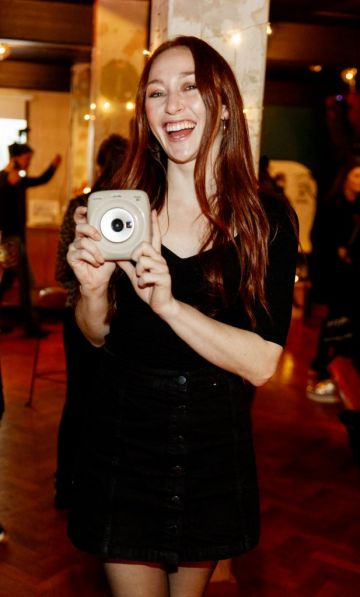 January Russell Winters pictured at the instax Christmas party that showcased the perfect selection of must-have gifts. Picture Andres Poveda