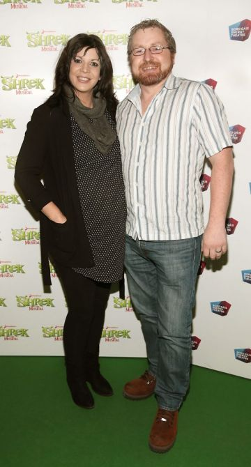 Aishling Conway and  Shane Byrne at the opening night of Shrek the Musical at The Bord Gais Energy Theatre, Dublin. Photo by Brian McEvoy