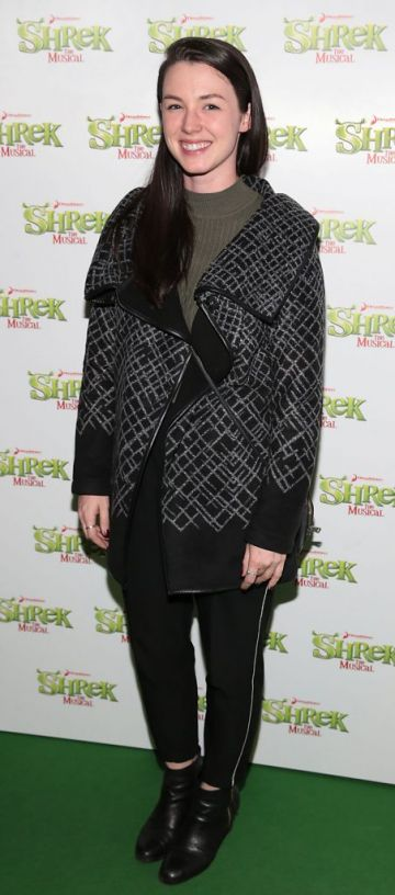 Brynn Murphy at the opening night of Shrek the Musical at The Bord Gais Energy Theatre, Dublin. Photo by Brian McEvoy