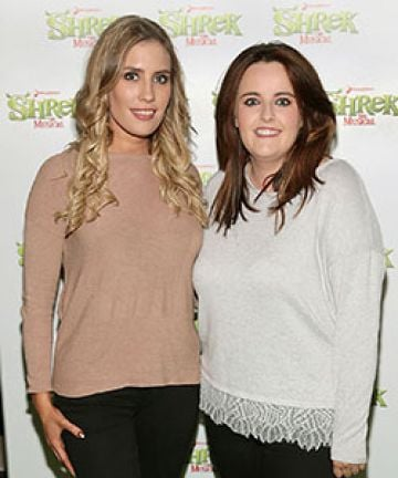 Emma Power and Katie Power at the opening night of Shrek the Musical at the Bord Gais Energy Theatre,Dublin. Picture Brian McEvoy No Repro fee for one use