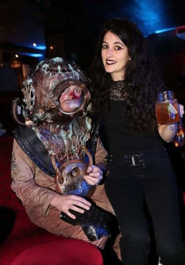 Anna Benn pictured at Kraken Black Spiced Rum's immersive movie experience in Dublin with a surprise horror movie. Pic Robbie Reynolds