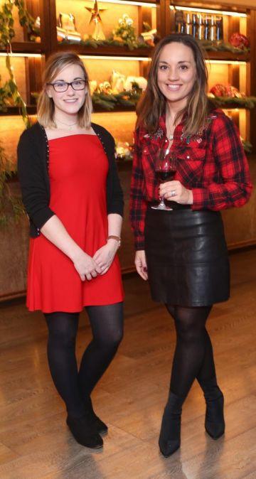 Pictured at the Amazing Aldi Christmas Showcase 2018 is Ashleigh Martin and Kelly Felton Photo: Leon Farrell/Photocall Ireland