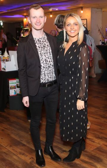 Pictured at the Amazing Aldi Christmas Showcase 2018 is Ian Collins and Aisling O Toole Photo: Leon Farrell/Photocall Ireland