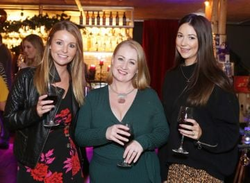 Pictured at the Amazing Aldi Christmas Showcase 2018 is Sarah Geoghegan, Siobhan O Neill and Katie Hanley . Photo: Leon Farrell/Photocall Ireland