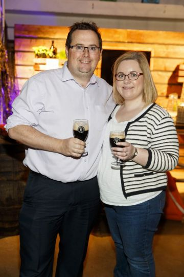 STOUT OF THIS WORLD Wayne and Janice Dunne pictured on International Stout Day as Guinness celebrated innovation in brewing with a future of stout summit.    Guinness together with guest brewers and a host of experts from around the world, celebrated bravery in brewing by hosting a Future of Stout Summit, focused on stout innovation and the opportunities in brewing this unique style of beer.   At the summit, Guinness announced that its brewers are set to work on a feasibility study, which will investigate the viability of brewing a Guinness fit to be enjoyed in space. Through further research, innovation and experimentation, Guinness will draw on over 259 years of experience in the hope of making a breakthrough.     Hosted in the Open Gate Brewery, the home of beer innovation and experimentation at Guinness, the stout summit was attended by a team of brewers from the St. James's Gate Brewery in Dublin and other brewers from around the world including the UK, the Netherlands, Korea as well as brewers from all over Ireland. Inspiration at the summit was also delivered by Dr. Norah Patten, who is set to be the first Irish person to travel into space, Kitchen's Theory's Chef, Jozef Youssef and Oxford University Gastrophysics Professor, Charles Spence, who together are on a continuous odyssey to research and demystify the field of gastronomy, and Erin Peters, the beer writer behind International Stout Day. Picture Andres Poveda More information can be found at www.guinness.com   Enjoy Guinness Sensibly. Visit www.drinkaware.ie.