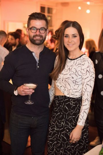 Mike Sheridan & Jo Linehan pictured at the launch of Lily O'Brien's 'Share Wisely' bags. Photo: Anthony Woods