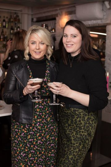 Rebecca Brady & Corina Gaffey pictured at the launch of Lily O'Brien's 'Share Wisely' bags. Photo: Anthony Woods