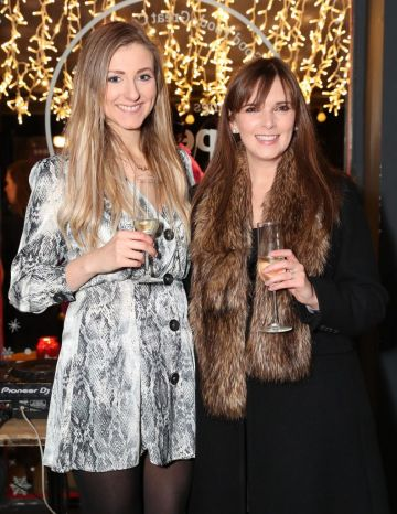 Darina Coffey and Rachel Williams pictured at the launch of the SuperValu All Things Considered Christmas Café in aid of ALONE.   Pic: Marc O'Sullivan