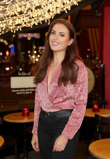 Holly Carpenter pictured at the launch of the SuperValu All Things Considered Christmas Café in aid of ALONE.  Pic: Marc O'Sullivan