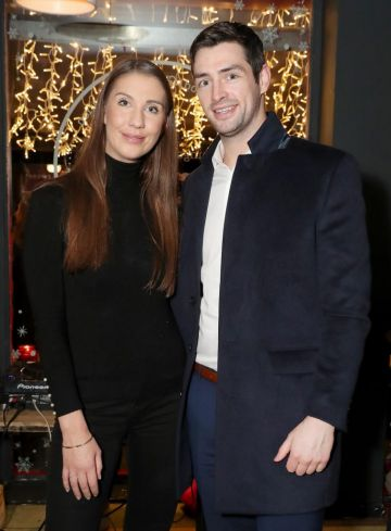 Clementine MacNeice and Jamie Lynch pictured at the launch of the SuperValu All Things Considered Christmas Café in aid of ALONE.   Pic: Marc O'Sullivan