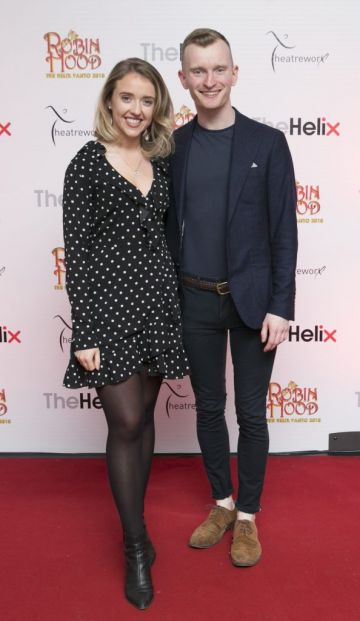 Pictured  Nicole Osborne and Ian Collins   at the opening night of The Helix Pantomime, Robin Hood on Saturday night.   Photo: Leon Farrell/Photocall Ireland.