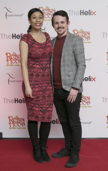 Pictured Seana Stenson and Barry Dunne  at the opening night of The Helix Pantomime, Robin Hood on Saturday night.  Photo: Leon Farrell/Photocall Ireland.