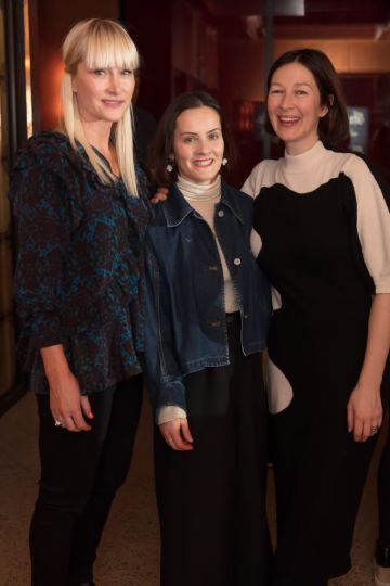 Helen Steele, Aisling Farinella & Natalie B Coleman pictured at an exclusive first look of Mary, Queen of Scots at The Stella Theatre, Ranelagh before it hits cinemas nationwide on January 18th.   Photo: Anthony Woods