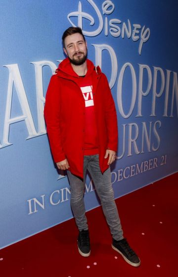 """Kodaline's Jason Boland pictured at a special preview screening of Disney's """"Mary Poppins Returns,"""" in the Light House cinema Dublin. Picture Andres Poveda"""