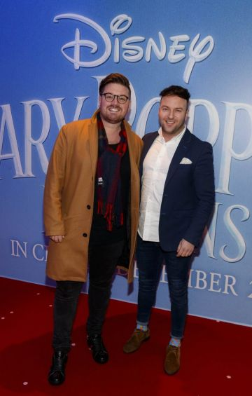 """Thomas Cross and Wayne Lawlor pictured at a special preview screening of Disney's """"Mary Poppins Returns,"""" in the Light House cinema Dublin. Picture Andres Poveda"""