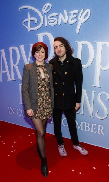 """Aoife Murray and Davey Reilly pictured at a special preview screening of Disney's """"Mary Poppins Returns,"""" in the Light House cinema Dublin. Picture Andres Poveda"""