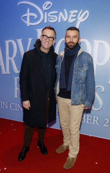"""Brendan Courtney and Adam Maryniak pictured at a special preview screening of Disney's """"Mary Poppins Returns,"""" in the Light House cinema Dublin. Picture Andres Poveda"""