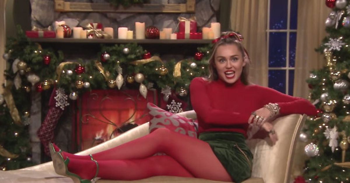Miley Cyrus gives the lyrics to 'Santa Baby' a 2018 update