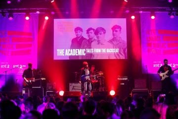 The Academic pictured at the RTÉ Choice Music Prize Live Event in Vicar Street, Dublin.
