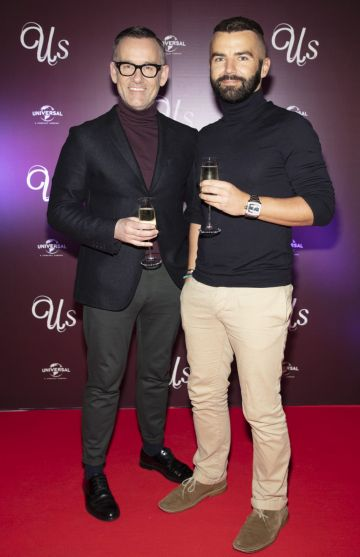 Brendan Courtney & Adam Maryniak pictured at an exclusive first look of Jordan Peele's Us at The Stella Theatre, Ranelagh. Photo: Anthony Woods.