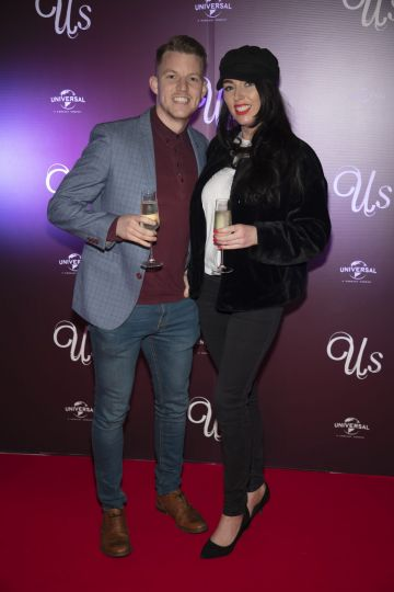 Ian Byrne & Ellie Sutton pictured at an exclusive first look of Jordan Peele's Us at The Stella Theatre, Ranelagh. Photo: Anthony Woods.