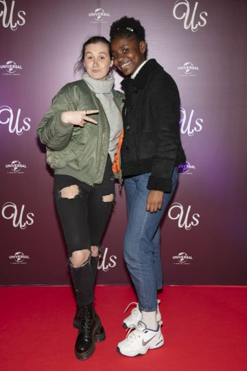 Madison Cawley & Benedit Akemba pictured at an exclusive first look of Jordan Peele's Us at The Stella Theatre, Ranelagh. Photo: Anthony Woods.