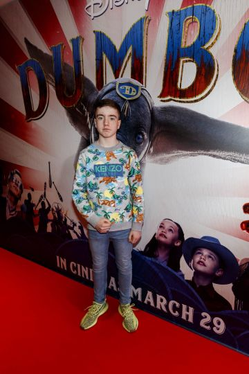 24/03/2019 Nate The Great Kelly pictured at the Irish Premiere of Disney's DUMBO in the Light House Cinema Dublin. Picture: Andres Poveda