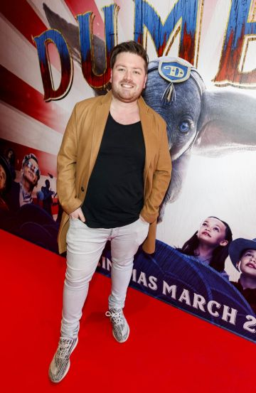 24/03/2019 Thomas Cross pictured at the Irish Premiere of Disney's DUMBO in the Light House Cinema Dublin. Picture: Andres Poveda