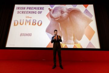 24/03/2019 Colin Farrell pictured at the Irish Premiere screening of Disney's DUMBO in the Light House Cinema Dublin. Picture: Andres Poveda