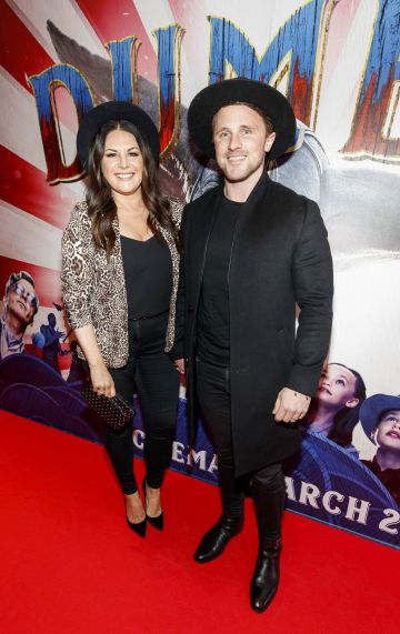 24/03/2019 Lisa Cannon & Richard Keatley at the Irish Premiere of Disney's DUMBO in the Light House Cinema Dublin. Picture: Andres Poveda