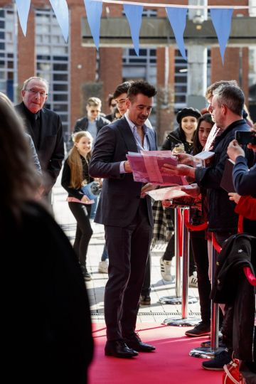 24/03/2019 Colin Farrell pictured on the red carpet at the Irish Premiere screening of Disney's DUMBO in the Light House Cinema Dublin. Picture: Andres Poveda