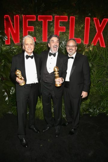 Michael Douglas, Chuck Lorre, and Al Higgins attend the Netflix 2019 Golden Globes After Party on January 6, 2019 in Los Angeles, California.  (Photo by Tommaso Boddi/Getty Images for Netflix)