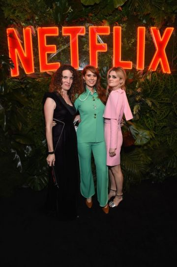 Liz Flahive, Kate Nash, and Gayle Rankin attend the Netflix 2019 Golden Globes After Party on January 6, 2019 in Los Angeles, California.  (Photo by Tommaso Boddi/Getty Images for Netflix)