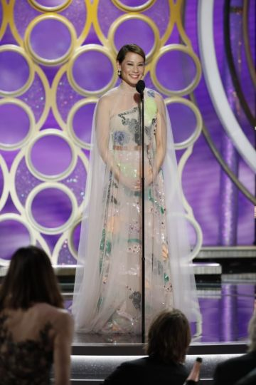 Presenter Lucy Liu speaks onstage during the 76th Annual Golden Globe Awards at The Beverly Hilton Hotel on January 06, 2019 in Beverly Hills, California.  (Photo by Paul Drinkwater/NBCUniversal via Getty Images)