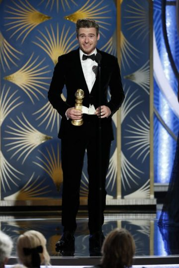 "Richard Madden from ""Bodyguard"" accepts the Best Performance by an Actor in a Television Series – Drama award  onstage during the 76th Annual Golden Globe Awards at The Beverly Hilton Hotel on January 06, 2019 in Beverly Hills, California.  (Photo by Paul Drinkwater/NBCUniversal via Getty Images)"