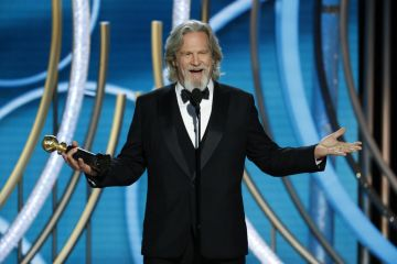 Jeff Bridges accepts the Cecil B. Demille Award  onstage during the 76th Annual Golden Globe Awards at The Beverly Hilton Hotel on January 06, 2019 in Beverly Hills, California.  (Photo by Paul Drinkwater/NBCUniversal via Getty Images)