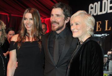 Sibi Bale, Christian Bale and Glenn Close attend the official viewing and after party of The Golden Globe Awards hosted by The Hollywood Foreign Press Association at The Beverly Hilton Hotel on January 6, 2019 in Beverly Hills, California.  (Photo by Rachel Luna/Getty Images)