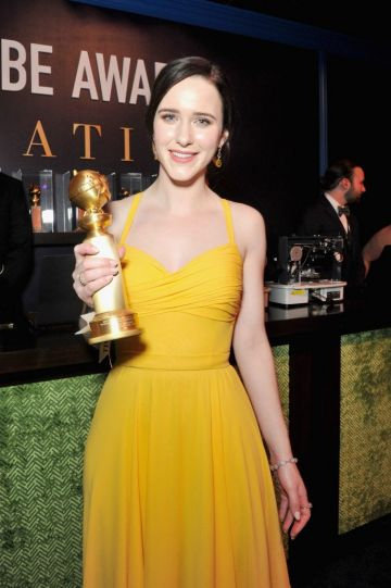Rachel Brosnahan, winner of Best Performance by an Actress in a Television Series - Musical or Comedy for 'The Marvelous Mrs. Maisel,' attends the official viewing and after party of The Golden Globe Awards hosted by The Hollywood Foreign Press Association at The Beverly Hilton Hotel on January 6, 2019 in Beverly Hills, California.  (Photo by Rachel Luna/Getty Images)