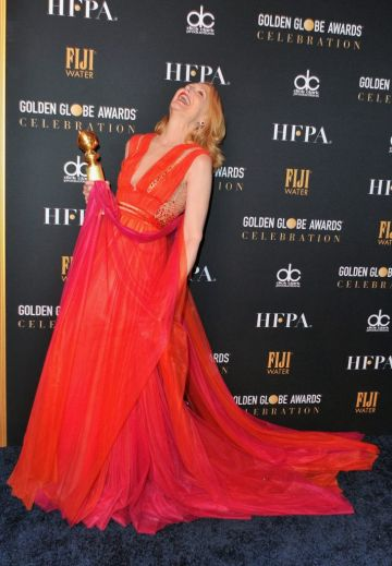 Patricia Clarkson  attends the official viewing and after party of The Golden Globe Awards hosted by The Hollywood Foreign Press Association at The Beverly Hilton Hotel on January 6, 2019 in Beverly Hills, California.  (Photo by Rachel Luna/Getty Images)