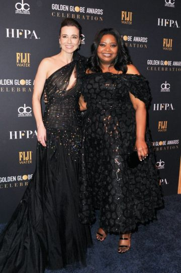 Linda Cardellini and Octavia Spencer attend the official viewing and after party of The Golden Globe Awards hosted by The Hollywood Foreign Press Association at The Beverly Hilton Hotel on January 6, 2019 in Beverly Hills, California.  (Photo by Rachel Luna/Getty Images)