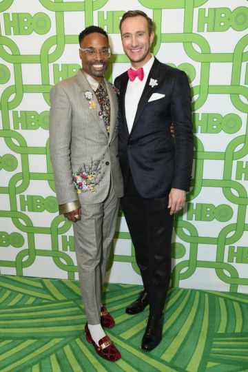 Billy Porter (L) and Adam Smith attend HBO's Official Golden Globe Awards After Party at Circa 55 Restaurant on January 6, 2019 in Los Angeles, California.  (Photo by Presley Ann/Getty Images)