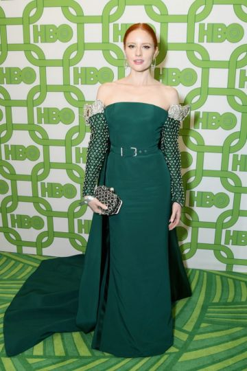 Barbara Meier attends HBO's Official Golden Globe Awards After Party at Circa 55 Restaurant on January 6, 2019 in Los Angeles, California.  (Photo by Presley Ann/Getty Images)
