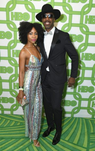 Shahidah Omar (L) and J. B. Smoove attend HBO's Official Golden Globe Awards After Party at Circa 55 Restaurant on January 6, 2019 in Los Angeles, California.  (Photo by Presley Ann/Getty Images)