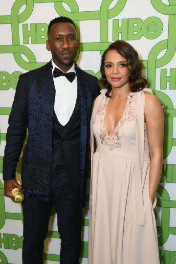 Mahershala Ali (L) and Carmen Ejogo attend HBO's Official Golden Globe Awards After Party at Circa 55 Restaurant on January 6, 2019 in Los Angeles, California.  (Photo by Presley Ann/Getty Images)