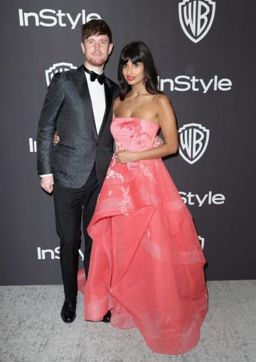 James Blake (L) and Jameela Jamil attends the InStyle And Warner Bros. Golden Globes After Party 2019 at The Beverly Hilton Hotel on January 6, 2019 in Beverly Hills, California.  (Photo by Rich Fury/Getty Images)