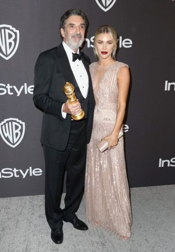 Winner of Best Television Series - Musical or Comedy for 'The Kominsky Method' Creator Chuck Lorre  (L) and Arielle Mandelson attend the InStyle And Warner Bros. Golden Globes After Party 2019 at The Beverly Hilton Hotel on January 6, 2019 in Beverly Hills, California.  (Photo by Rich Fury/Getty Images)