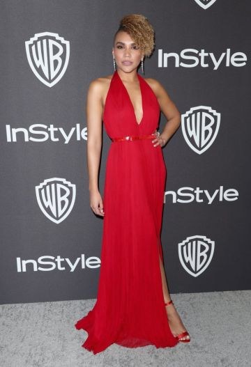 Emmy Raver-Lampman attends the InStyle And Warner Bros. Golden Globes After Party 2019 at The Beverly Hilton Hotel on January 6, 2019 in Beverly Hills, California.  (Photo by Rich Fury/Getty Images)