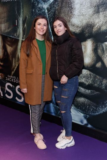 Amy and Sarah Quinn pictured at the special preview screening of GLASS. Picture Andres Poveda