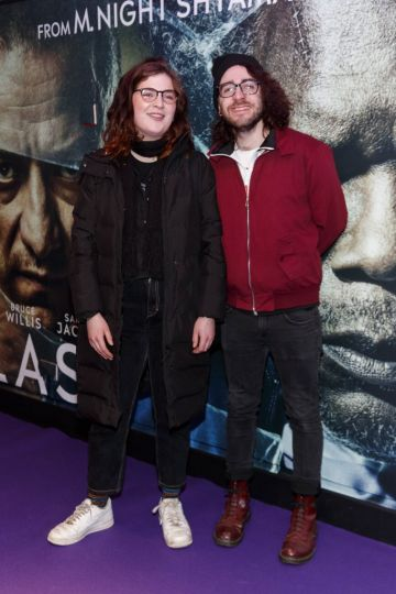 Joey Bagnel and David Reilly pictured at the special preview screening of GLASS. Picture Andres Poveda